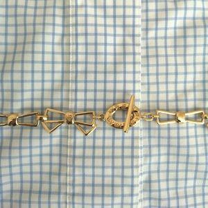 Vintage bow gold toned belt/necklace